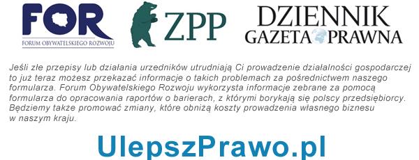 UlepszPrawo.pl - formularz