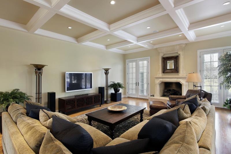 Дворцовый дизайн в современной квартире: кессонные потолки своими руками