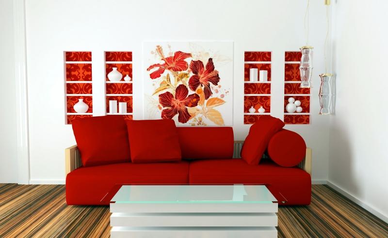Barwy jesieni na cianach strona 2 kolory i wzory - Decoracion blanco negro rojo ...