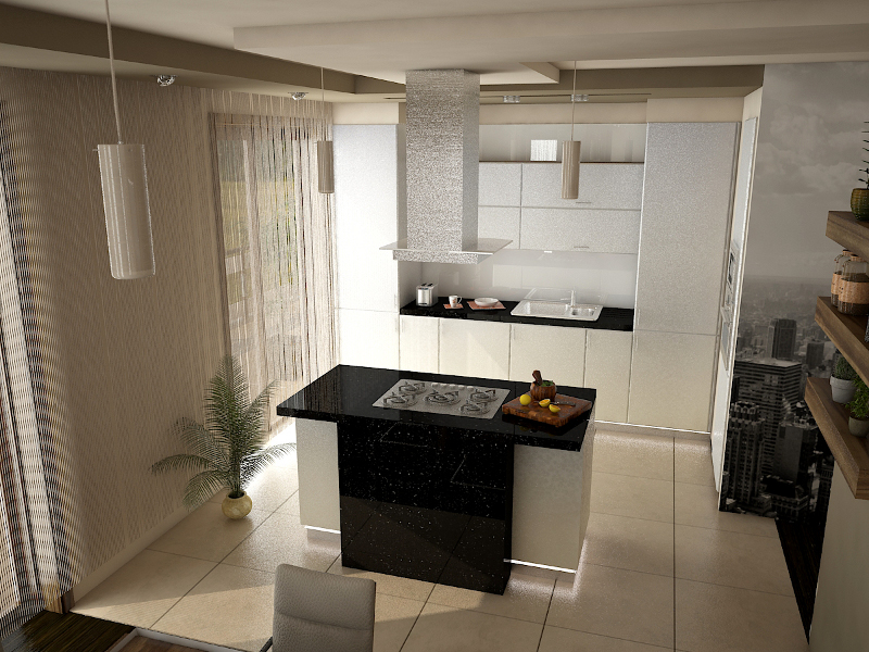 Wyspa w aranżacji kuchennej, czyli luksus gotowania   -> Kuchnia Gazowa Kśt