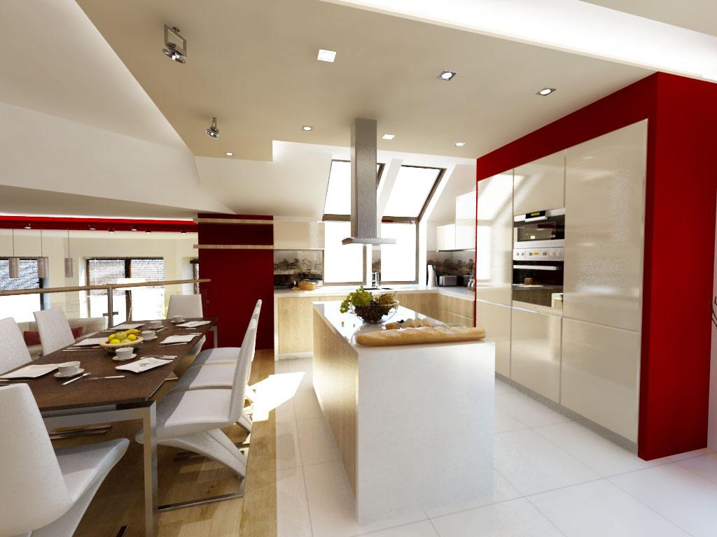 Wyspa w aranżacji kuchennej, czyli luksus gotowania  Strona 2  Projekt kuch   -> Kuchnia Na Poddaszu Galeria Zdjeć