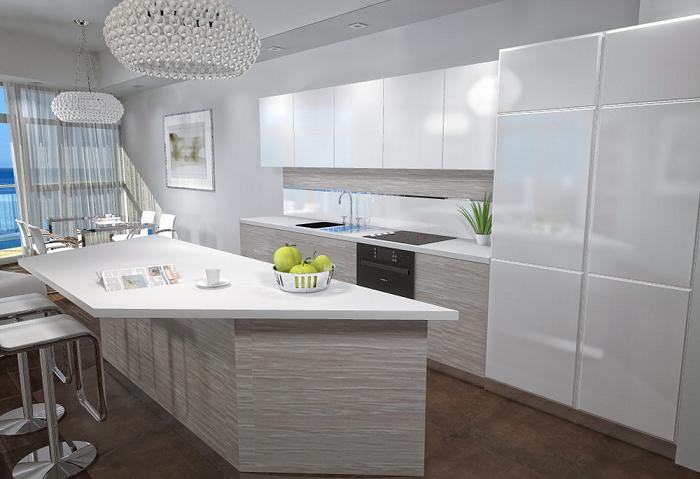 Styl minimalistyczny na przykładzie apartamentowca Dune   -> Kuchnia Gazowa Kśt