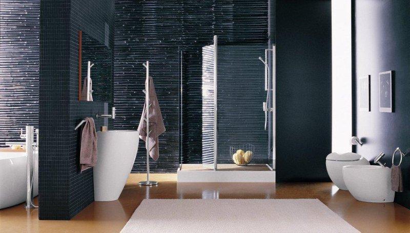 połyskującej, odważnej łazience błyszczeć może wszystko ...