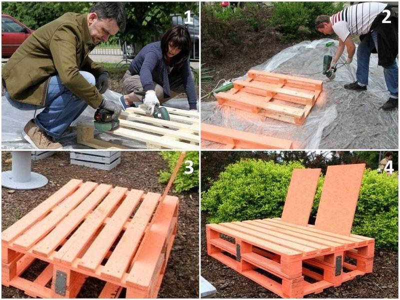 Meble Ogrodowe Dla Dzieci Z Biedronki : Meble ogrodowe Fotel z palet  Wyposażenie ogrodu  Ogród  Infor