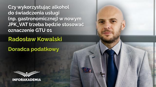 Czy wykorzystując alkohol do usługi (np. gastronomicznej) w nowym JPK_VAT...
