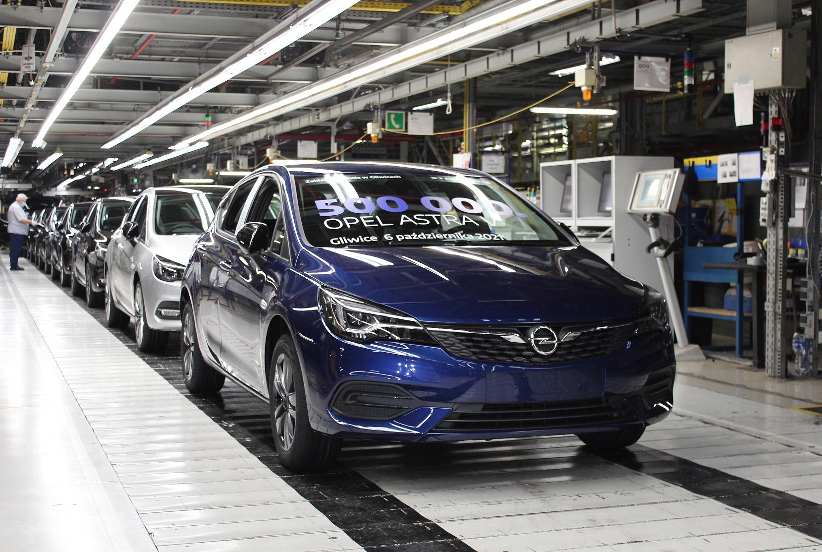 Produkcja Astry w Gliwicach. Powstał półmilionowy Opel