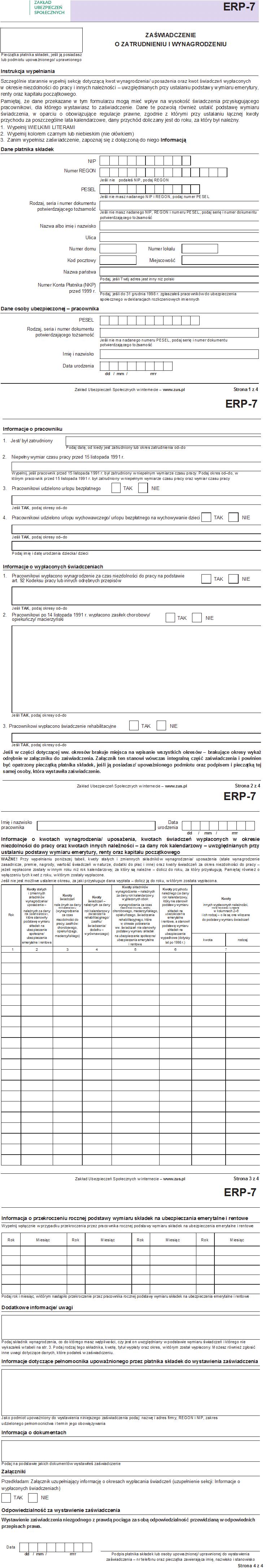 1cd2a8e1fd9f00 Nowy formularz ZUS ERP-7 - wzór, jak wypełnić - Formularze ZUS - ZUS ...